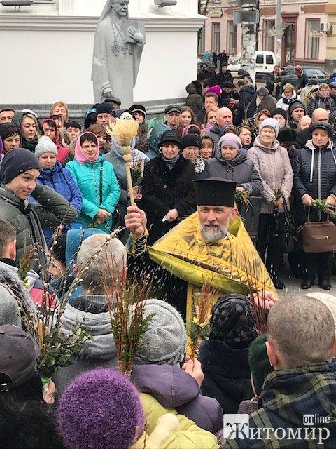 Освячення верби у Свято-Михайлівському кафедральному соборі. ФОТО. ВІДЕО