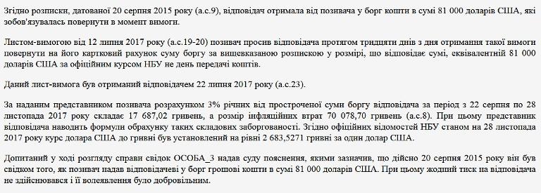 Суд зобов'язав секретаря Житомирської міськради повернути 2 млн грн, які вона позичила перед виборами