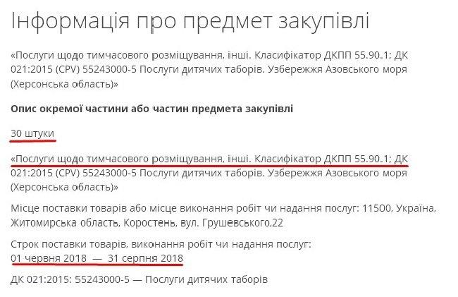 Коростенська міськрада закупила 30 путівок у дитячі табори до моря на понад 150 тис. грн