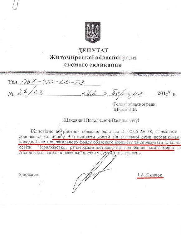 Скандальний передвиборний подарунок Іллі Смичка оплатить обласна рада