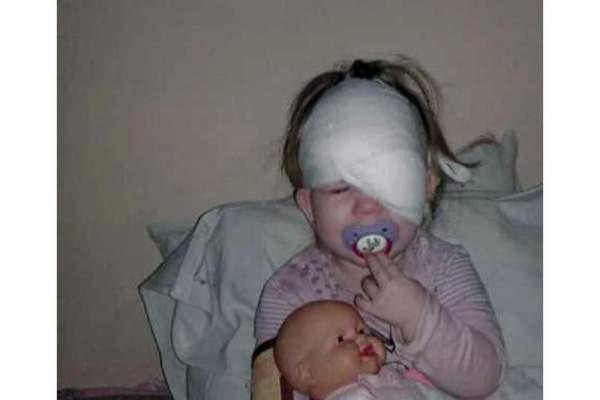 Житомиряне собирают деньги, чтобы спасти зрение онкобольной девочке. ФОТО