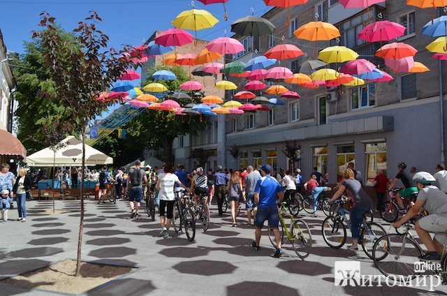 Велодень у Житомирі. ФОТО