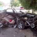 В області водія позашляховика унаслідок аварії затисло конструкціями авто. Довелося вирізати