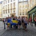 Житомирські бійці уже розгорнули жовто-блакитний стяг у Польщі та Чехії
