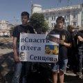 #FreeOlegSentsov: житомирські активісти й інтелектуали вийшли до ОДА, щоб засвідчити свою підтримку ув'язненому Сєнцову