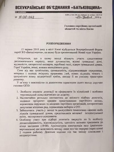 Навіщо завтра поїдуть до Києва 50 агентів Юлії Тимошенко із Житомира?ДОКУМЕНТ