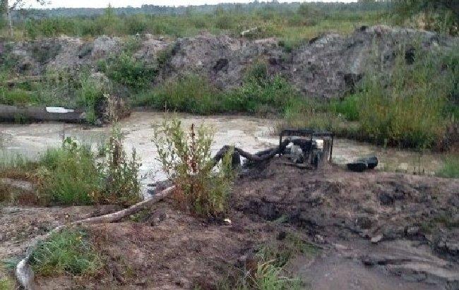 В Олевському районі підлітки видобували бурштин. ФОТО