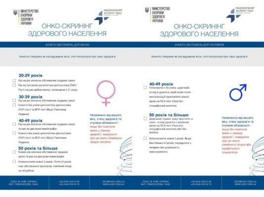 Які обстеження і у якому віці слід робити, щоб запобігти розвитку раку – МОЗ