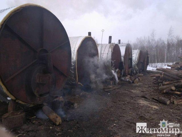 На Житомирщині закрили три кримінальні провадження проти підприємств, що забруднюють повітря випалюванням деревного вугілля