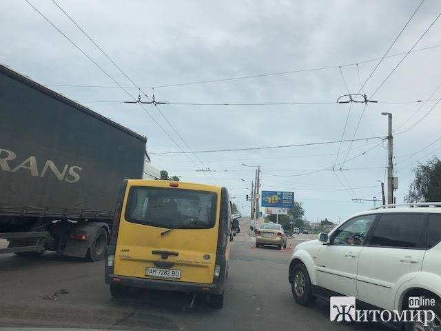 Неподалік автовокзалу сталась ДТП. Фотофакт
