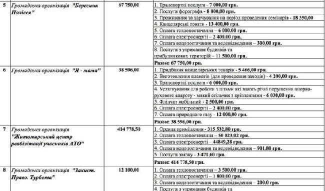 Житомирські громадські організації просять 1,8 млн грн на власні потреби, – депутатка