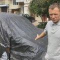 У Коростені невідомі спалили автомобіль власника місцевого кафе. ФОТО