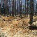 На Житомирщині затримали двох чоловіків, які видобували бурштин