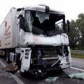 В черговій ДТП на трасі Київ-Чоп у Житомирській області зіштовхнулись дві вантажівки, є загиблий
