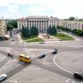 Житомирянин висловив пропозицію зробити на Соборному майдані клумбу в центрі руху автомобілів