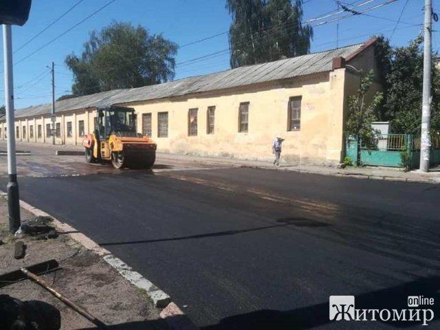 У Житомирі тривають роботи по ремонту дороги на вул. Перемоги. ФОТО