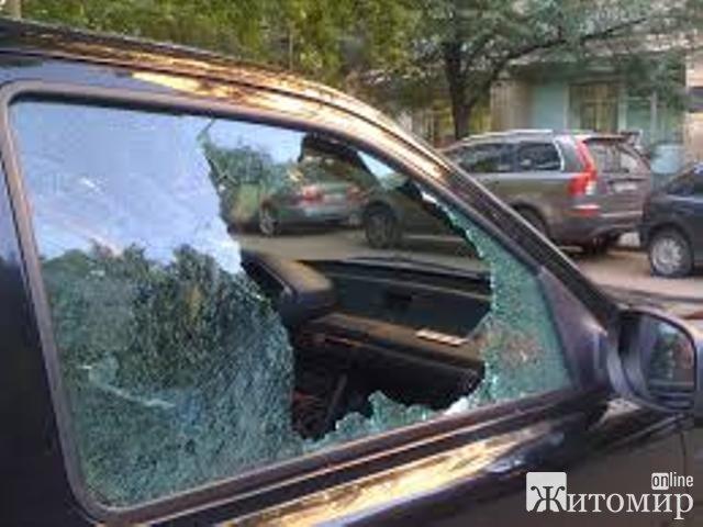 Патрульні поліцейські затримали житомирянина, котрий пошкодив автомобіль