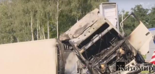 Затримали водія фури, що скоїв ДТП на трасі Київ-Чоп та втік з місця пригоди