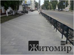 У Житомирі по вулиці Котовського поставили паркан із відсіками для квітів. ФОТО
