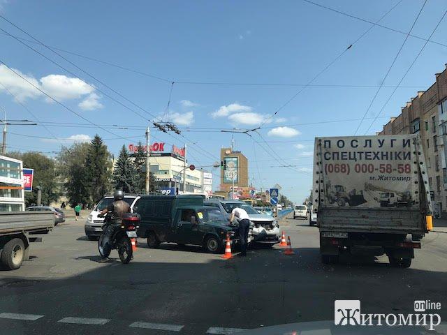 У центрі Житомира сталася аварія. ФОТО