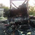 У Житомирі згоріли легковик та вантажівка
