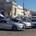 """У Житомирі аварія на розі Житнього ринку біля ТРЦ """"Сільпо"""". ФОТО"""