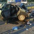 На Житомирской трассе фура перелетела через отбойник и врезалась в ВАЗ, погибли двое