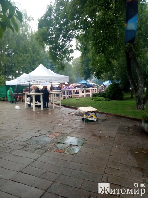 На площі Корольова у Житомирі продовжують святкувати в дощ. ФОТОРЕПОРТАЖ