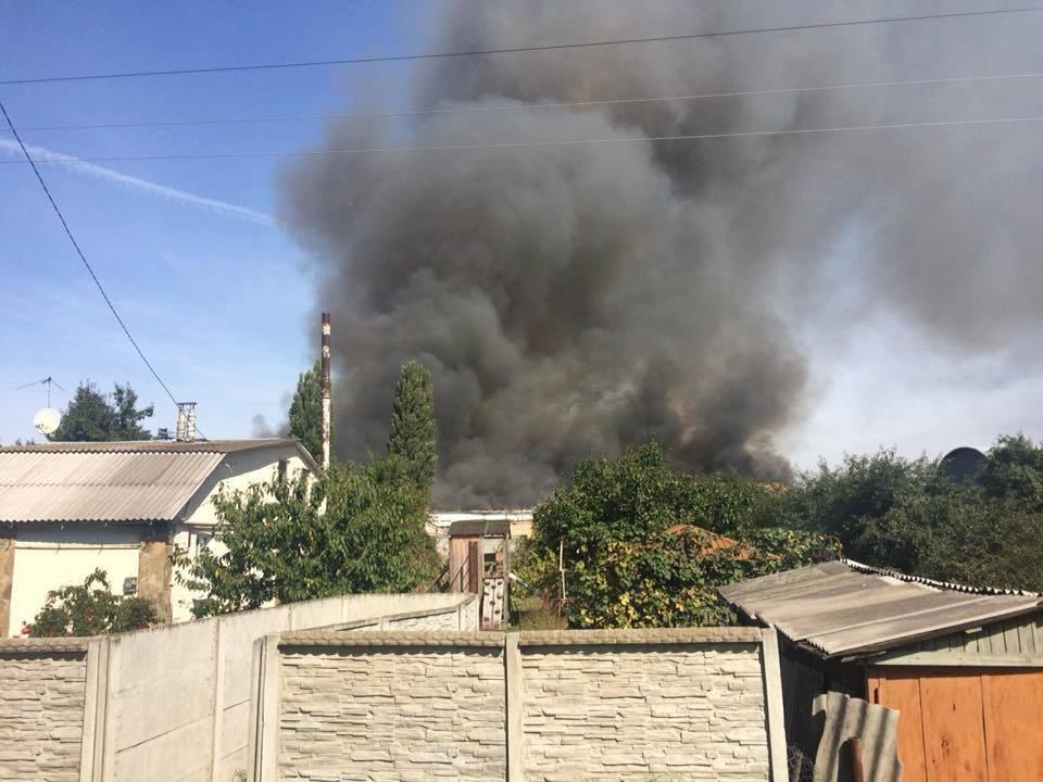 Пожежа на Паперовій фабриці в Житомирі