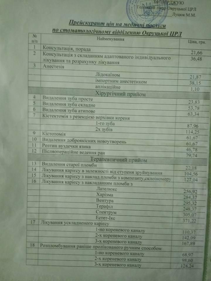 """""""Безкоштовна"""" медицина в Овруцькій ЦРЛ"""