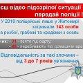 Поліція Житомирської області закликає містян до співпраці. ПОДРОБИЦІ