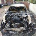 На Малинщині навмисно підпалили автомобіль Audi А6. ФОТО
