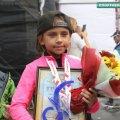 8-річна Ніколь Князева з Києва пробігла Космічний напівмарафон у Житомирі на рівні з дорослими