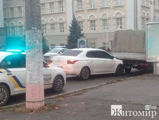 ДТП в Житомирі по вулиці Михайла Грушевського. ФОТО