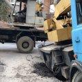У центрі Житомира провалився будівельний кран. ФОТО