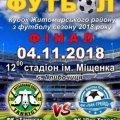 Кубок Житомирського району з футболу пройде у Глибочиці