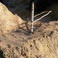 В могилу «пологовского маньяка» на житомирском городском кладбище кто-то воткнул березовый кол с венком из прутьев