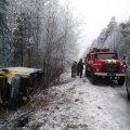 На Житомирщині перекинувся автомобіль, що перевозив хліб. ФОТО