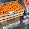 На Житньому ринку у Житомирі з'явилися в продажу перші грузинські мандарини. ФОТО
