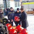 Житомирський міський голова передав вогнеборцям обласного центру пожежно-рятувальне спорядження на суму понад 700 000 грн