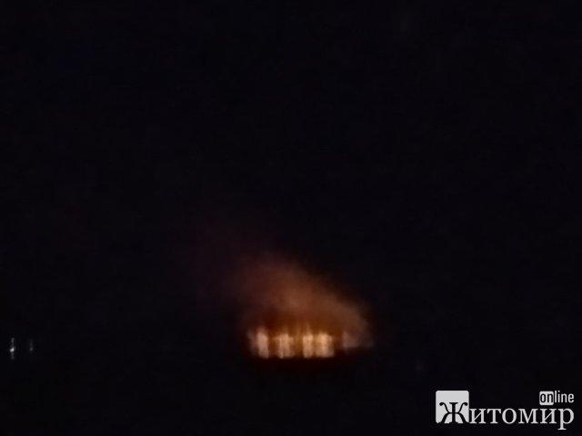 На околиці Коростишева - пожежа. ФОТО
