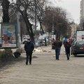 В Житомирі водій побив скляну зупинку та швидко втік з місця пригоди. ФОТО