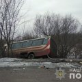 ДТП у Черняхівському районі: рейсовий автобус злетів з дороги