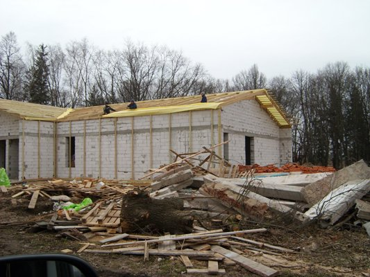 У Високому на Черняхівщині будується сучасна амбулаторія.ФОТО