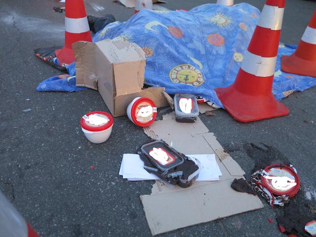В Киеве бензовоз задавил мужчину: фото с места происшествия