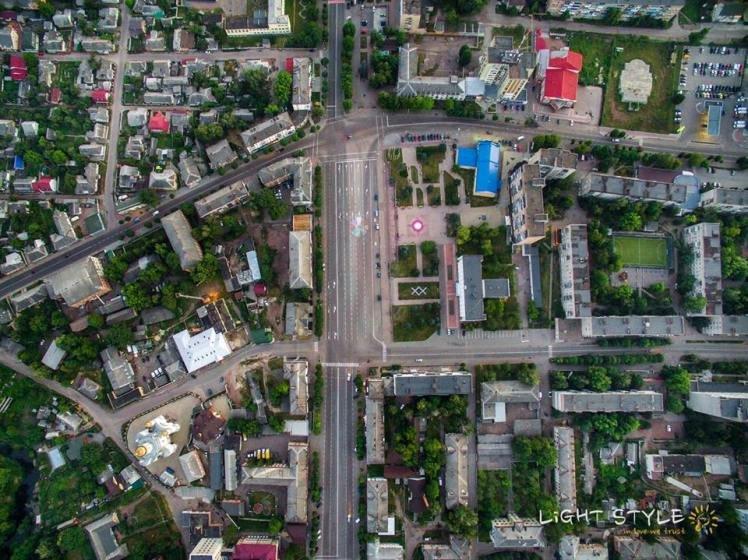 Славне місто Коростень з висоти пташиного польоту. ФОТО