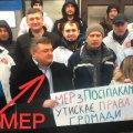 Мер Олевська взяв участь в акції проти самого себе