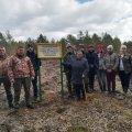 В Словечанському лісгоспі посадили ліс в пам'ять про загиблого колегу на Луганщині