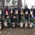 На Малинщині юні лісівники розвішували будиночки для птахів