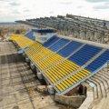 На стадіоні «Полісся» вже змонтували 19 опор для накриття трибуни